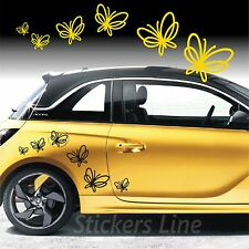 Kit adesivi FARFALLE (mod7) 44 pezzi SMART FIAT 500 fiori auto moto car stickers