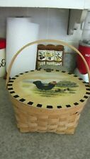 Wicker Chicken Basket with Handle and Lid