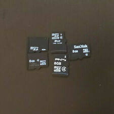 Lot of 5 8Gb  micro SD memory cards - mixed brands sandisk samsung etc microsd