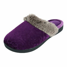 New Isotoner Women's Velour Patterned Clog Slippers