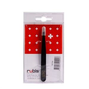 Rubis Slant Slanted Tip Professional Tweezer Swiss Made