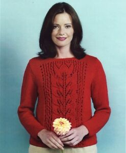 Barbara Khouri for Reynolds Ole Ole Lace Tulip Pullover 82255 Knitting Pattern