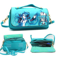 Womens Hatsune Miku Leather Purse Handbag Clutch Shoulder Messenger Bag Satchel