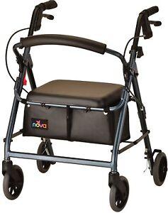 Nova GetGO Junior Foldable Rolling Mobility Walker Rollator - 4 COLOR CHOICE