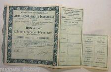 Bon a Lot : Exposition Internationale des Arts Décoratifs Paris 1925 ( 594 )