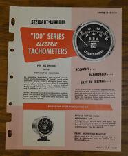 1959 STEWART WARNER CATALOG TACHOMETER TACH VTG HOT ROD SCTA GAUGE SCTA SW OLD