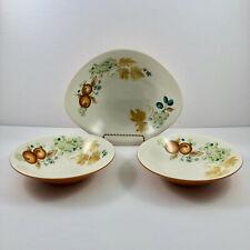 Informal True China Iroquois Ben Seibel Old Orchard Lot of 3 Bowls