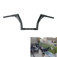"Custom 1'' Fat 10"" Rise Ape Hangers Handlebar For Harley Softail Sportster XL"