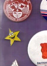 Smiley Star - Enamel Lapel Badge