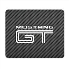 Ford Mustang GT Black Carbon Fiber Texture Graphic PC Mouse Pad