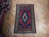 Hand Knotted Rug Semi-Antique Russian Hand Knotted 4' x 6' Superb Rug