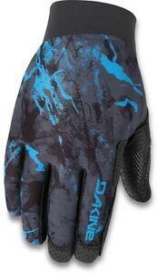 Dakine Vectra Cycling Bike Gloves, Men's Large, Cyan Scribble New 2020