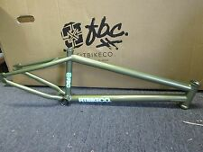 "FIT 2016 MAC 2 TRANS LIME GREEN BMX BIKE FRAME freestyle 21""tt S&M new take-part"