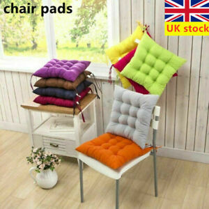 1/2/4/6Pc Chair Seat Pads Dining Cushions Tie On Garden Furniture Outdoor Patio