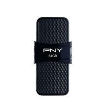 64GB PNY Duo Link OTG USB 3.1 Flash Drive - Black