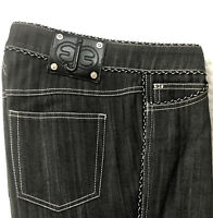 Escada Womens Dark Wash Mid-rise Cotton Boot cut Jeans Trausers size 34