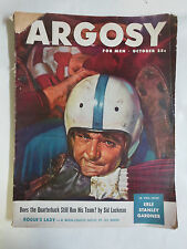 Argosy Magazine October 1948 Pulp Fic! Football! Quarterback Sid Luckman Article