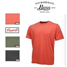 Men's G.H. Bass & Co Whitewater Crew Trail Wicking S/S  VARIETY SIZE/COLOR - I31