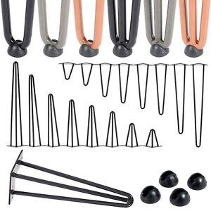 4x Hairpin Legs Tischbeine haarnadelbeine hairpins diy tischgestell möbelfuß Set