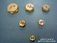 "BRASS FEMALE BLANKING CAP STOP END BSP IN VARIOUS SIZES  FROM (1/8"" TO 1-1/2"")"