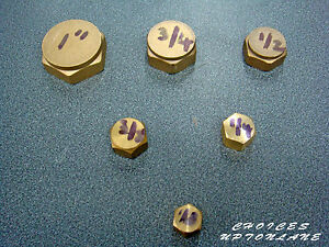 """BRASS FEMALE BLANKING CAP STOP END BSP IN VARIOUS SIZES  FROM (1/8"""" TO 1-1/2"""")"""
