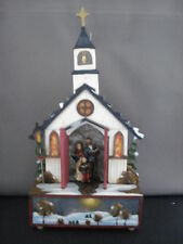Music Box Wooden Church Musical O Little Town of Berhlehem Kurt Adler