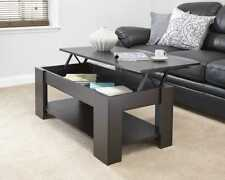 EXCLUSIVE NEW MODERN CONTEMPORARY MODERN ESPRESSO LIFT UP STORAGE COFFEE TABLE