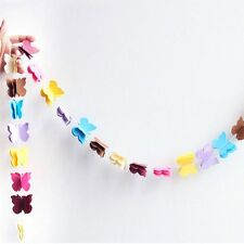Butterfly Hanging Paper Colorful Party Decoration Garlands Floral String Cute