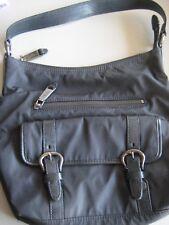 Cole Haan Bucket Shoulder Bag-Black Nylon Fabric