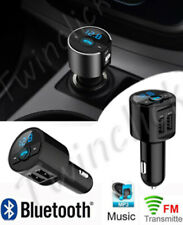 TRASMETTITORE VIVAVOCE BLUETOOTH FM WIRELESS MP3 DA AUTO CARICABATTERIA 2 USB