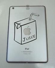1 X Pegatina de Vinilo Calcomanía-Apple jugo para iPad Mini 1 2 3 4 Gracioso Caja De Cartón
