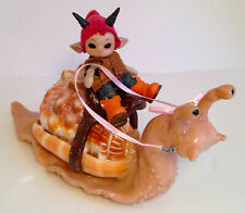 BJD Vehicle as a SNAIL. Handmade w shell. ADORABLE Tiny anthro Doll accessory