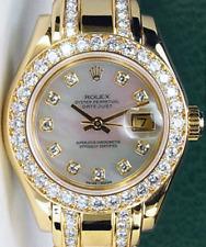 ROLEX 18kt Gold Ladies Pearlmaster MOP Dial Diamond Bracelet 69298 SANT BLANC