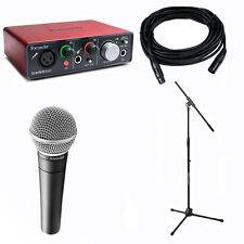 Focusrite Scarlett Solo w/ Shure SM58 Microphone, 20'XLR Cable & Boom Stand Kit