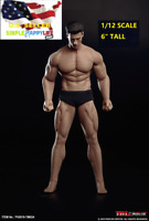 "TBLeague PHICEN 1/12 male Seamless muscular body 6"" figure w/ Head TM02A ❶USA❶"