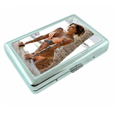 Tattoo Pin Up Girls D25 Silver Metal Cigarette Case RFID Protection Wallet
