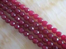 "6mm red faceted Ruby Gemstones Loose Beads 15""##HK1144"