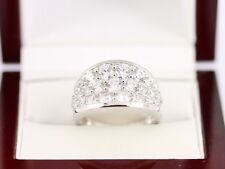 Cluster Ring Sterling Silver Ladies Stunning O 925 8.3g AX49