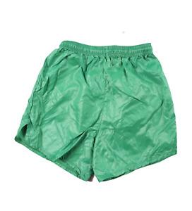 NOS Vintage 90s Youth Large Blank Nylon Running Jogging Soccer Shorts Green USA