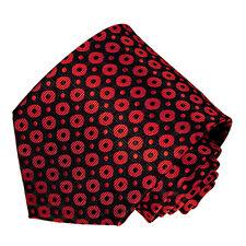 Men's black and red color polka dot patterned neck tie