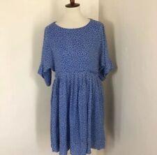 Hatch Maternity Floral Chiffon Dress Size 2 US 8-10 Blue NWT $288