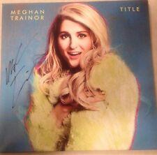 "MEGHAN TRAINOR  Signed ""TITLE"" Record Album LP W/PROOF"