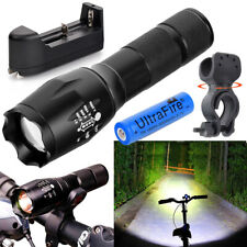 90000LM Genuine G700 LED Zoomable Tactical Flashlight Torch 18650 Battery Set