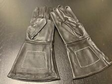 NEW BLACK Leather Gauntlet Gloves - Size XL - Excellent, Civil War, Steampunk