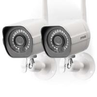 Wireless Security Camera System(2 Pack)HD Outdoor WiFi IP Cameras Night Vision