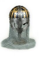 3 color engraved Spectacle Viking helmet, Larp, collectible, wearable