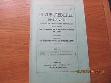 Revue Médicale de Louvain N°5 1932 La démence précoce
