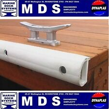 BOAT PONTOON BUFFER FENDER D SECTION WHITE PVC MDS MARINE DOCK SYSTEMS METER NEW