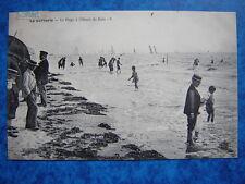 LA BERNERIE  :  La Plage à l' Heure du Bain......VO.1906.