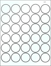 50 Sheets 1500 Clear Round Stickers 1.5 inch Super Adhesive Box Seal Label 4279C